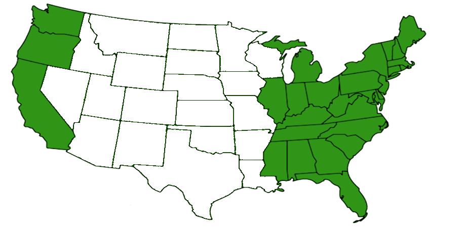 woodlouse spider range map