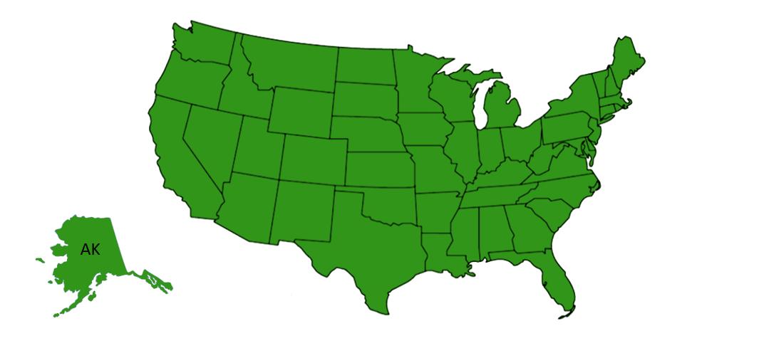 American grass spider range map