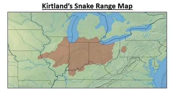 kirtlands snake range map
