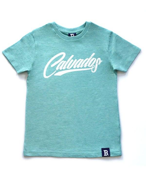 T-Shirt Calvados Vert Chiné - Enfant