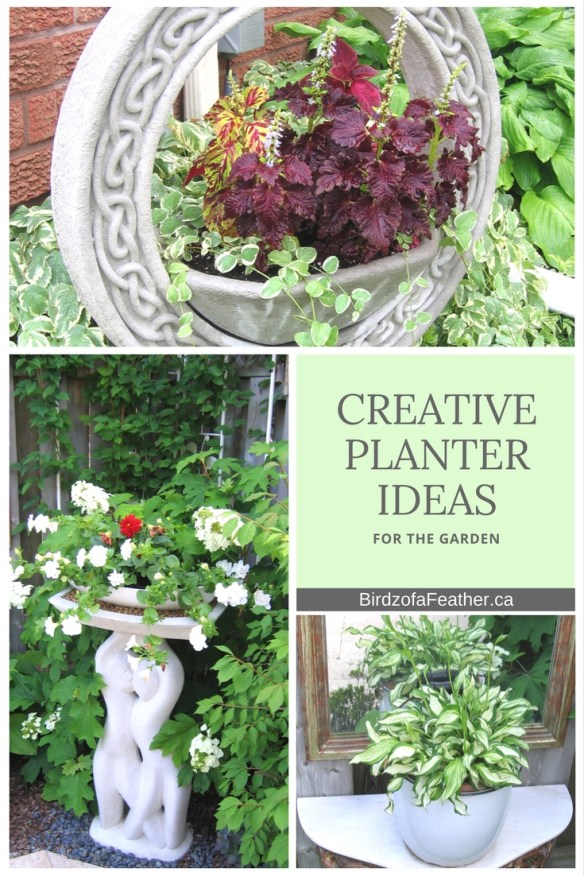 These creative planter ideas make the most of a tiny garden. We're always looking for ways to squeeze just one more plant into our small outdoor space. Birdz of a Feather | creative planter ideas outdoors | creative planter ideas outdoors diy projects | planter ideas DIY | planter ideas outdoor easy DIY | planters | planters diy | repurposed planters | repurposed planters ideas | upcycled planters | upcycled planters ideas