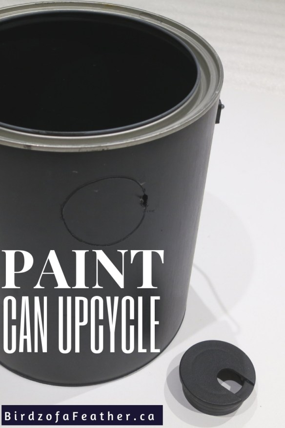 Repurpose a paint can into a floating tap water feature! Birdz of a Feather | Indoor water feature | indoor water feature tabletop | paint can repurpose | paint can upcycle | paint can diy | water feature | fountain | water fountain | water fountain diy | water feature indoor | birdzofafeather.ca #waterfeatures #repurposed #upcycled #fountain