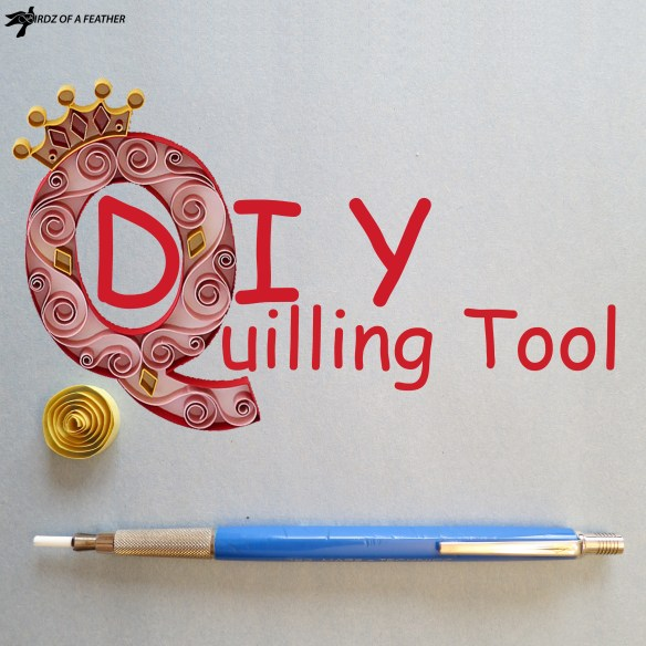 Why buy a quilling tool when you can make your own in under 5 minutes? Birdz of a Feather | DIY tools | quilling tools | quilling tools DIY | quilling tools diy how to make | quilling tools how to make | quilling tools and materials #quilling #quillingtools #birdzofafeather #birdzofafeather.ca