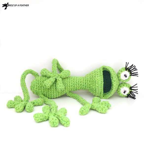Drop in for this free crochet frog pattern! Gabriola Frog (Gabi) is a happy-go-lucky frog but a bit of a drama queen. She doesn't close her mouth for a minute. To her credit, she catches more flies that way! Birdz of a Feather | Free amigurumi patterns | Free crochet frog pattern | Free amigurumi frog pattern | Free frog pattern | Free crochet frog | Free crochet amigurumi frog patterns | Free amigurumi frog pattern easy | crochet frog pattern | amigurumi frog crochet pattern free | Amigurumi | amigurumi free pattern | free crochet pattern | Frog | #birdzofafeather.ca #amigurumi #gabriolafrog #freepattern #amigurumipattern #craft #freecrochetpatterns #crochetfrog #diy #crochet #amigurumifrog #freeamigurumi #socutecrochet