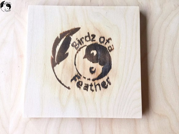 Experimental wood burning with ammonium chloride. Birdz of a Feather | ammonium chloride | ammonium chloride wood burning | wood burning | wood burning using ammonium chloride | chemical wood burning | wood burning with a stencil and ammonium chloride #stencil #woodburning #craftmojo #ammoniumchloride #birdzofafeather.ca