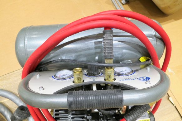 How to install baseboard trim using an air compressor