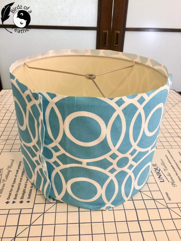 Wouldn't you love to be able to change the fabric on your lampshades at a whim? I'll show you how to recover a lampshade with a slipcover so you can do just that! lampshade slipcover | sewing tutorial | slipcover for lampshade | lampshades | birdzofafeather.ca | lampshade makeover | lampshade makeover diy | lampshade diy | lampshade ideas | lampshade redo | lampshade makeover fabric covered | sewing hacks | sewing crafts | sew a lampshade | sew a lampshade cover | how to sew a lampshade | sew a lampshade slipcover | how to recover a lampshade