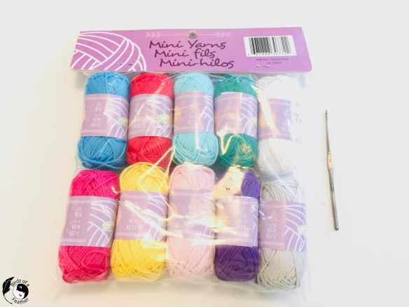Colourful cotton mini yarn for Crochet coral reef
