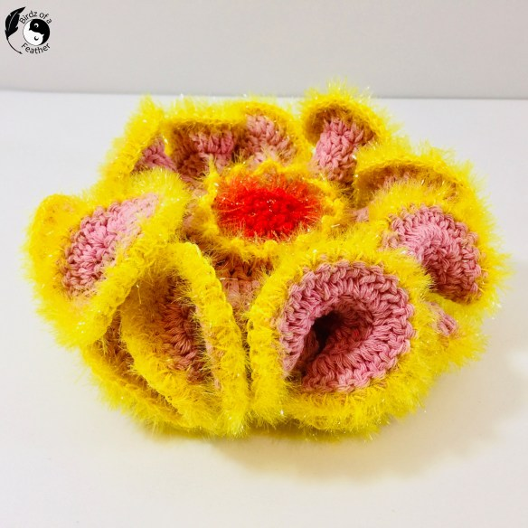 Crochet hyperbolic coral for crochet coral reef
