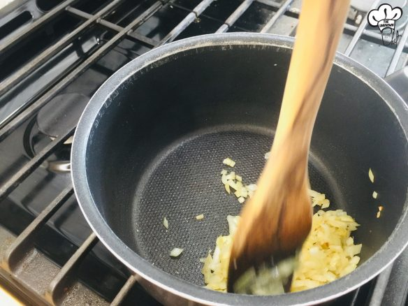 Cooking onion for sugar free ketchup recipe