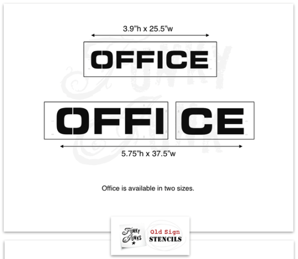 Office Stencil sizes for how to stencil on wood