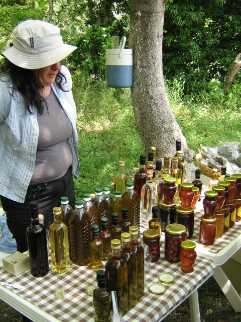 Jag köpte 1 liter Olivolja, 2 sorters Honung, Timjan, Torkade Blåbär och Tranbär