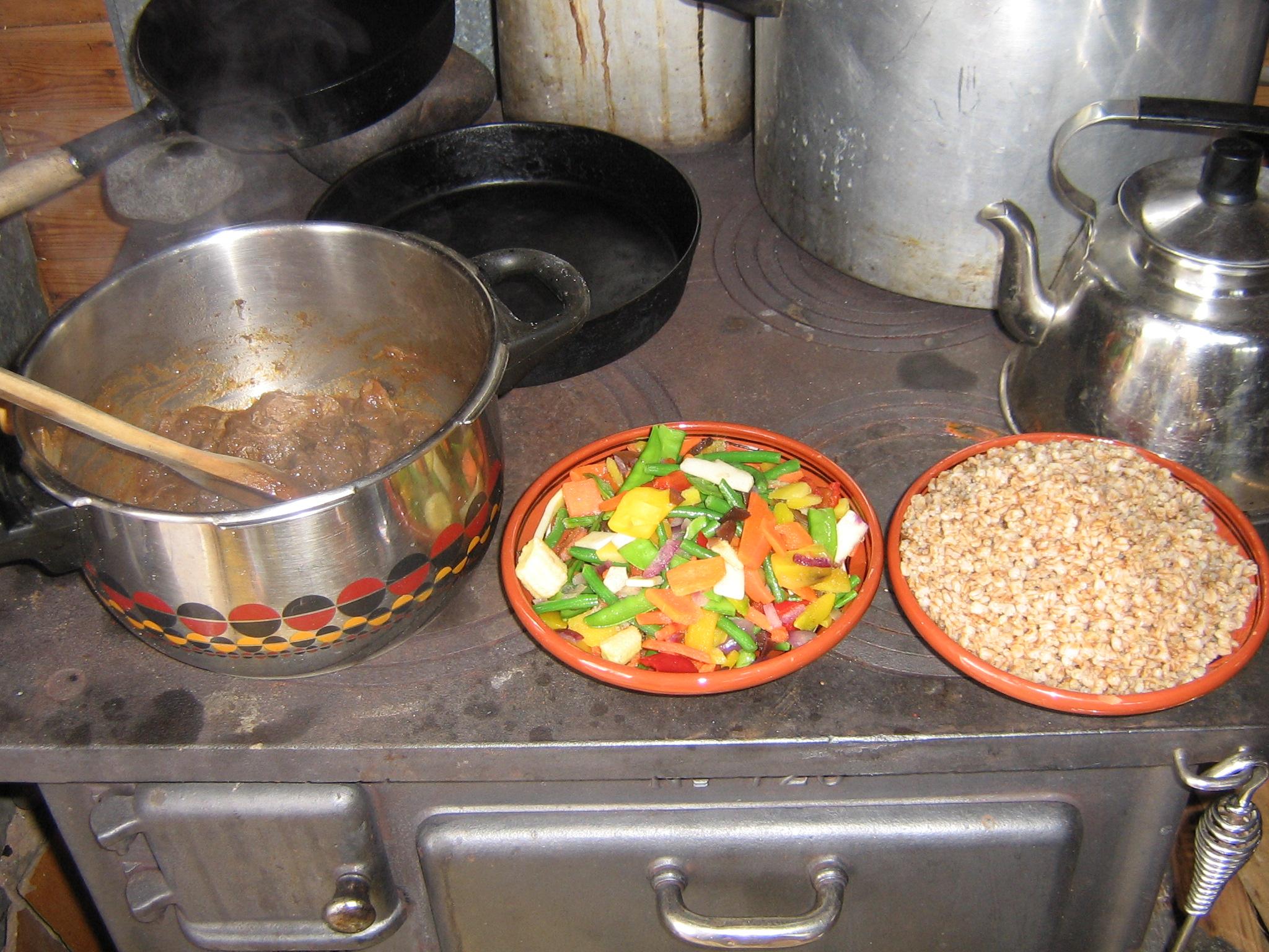 Bra med vedspis, både för värme och matlagning