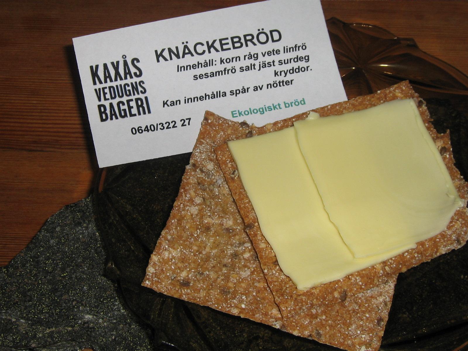 Tunt Knäckebröd på Surdeg från Kaxås Vedugnsbageri