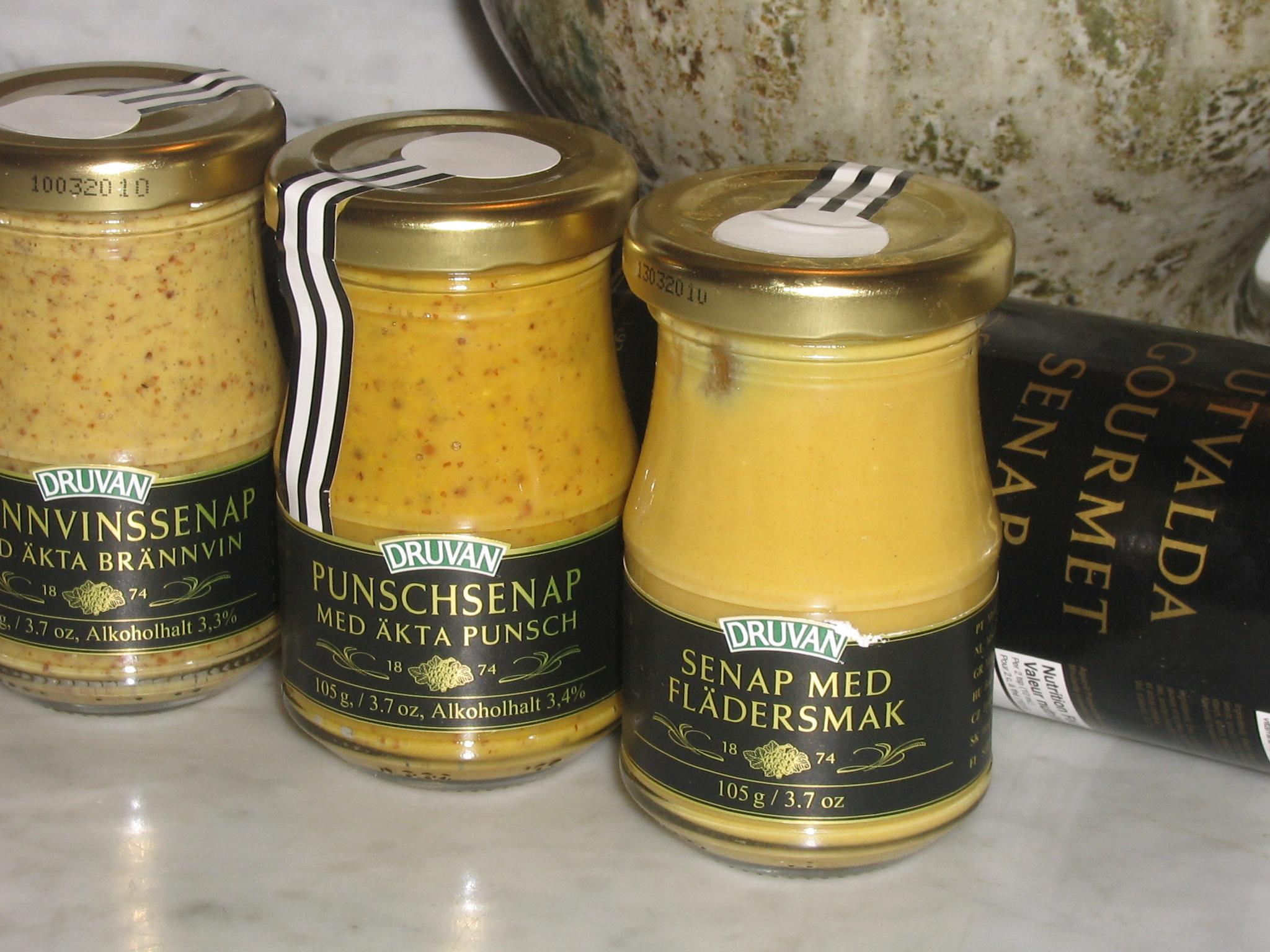 Druvans  utvalda Gourmet-senap