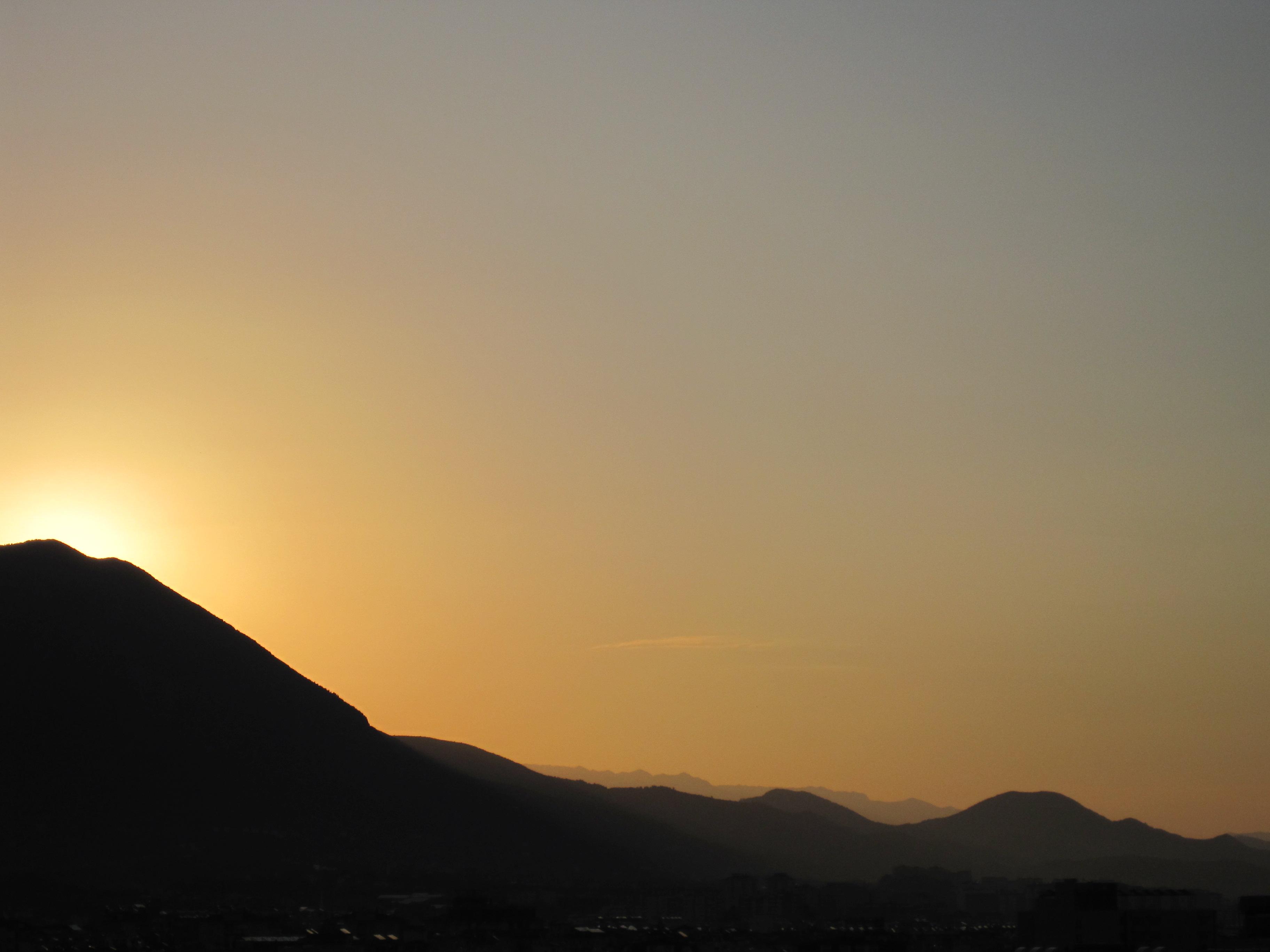 Soluppgång över Taurusbergen i Alanya