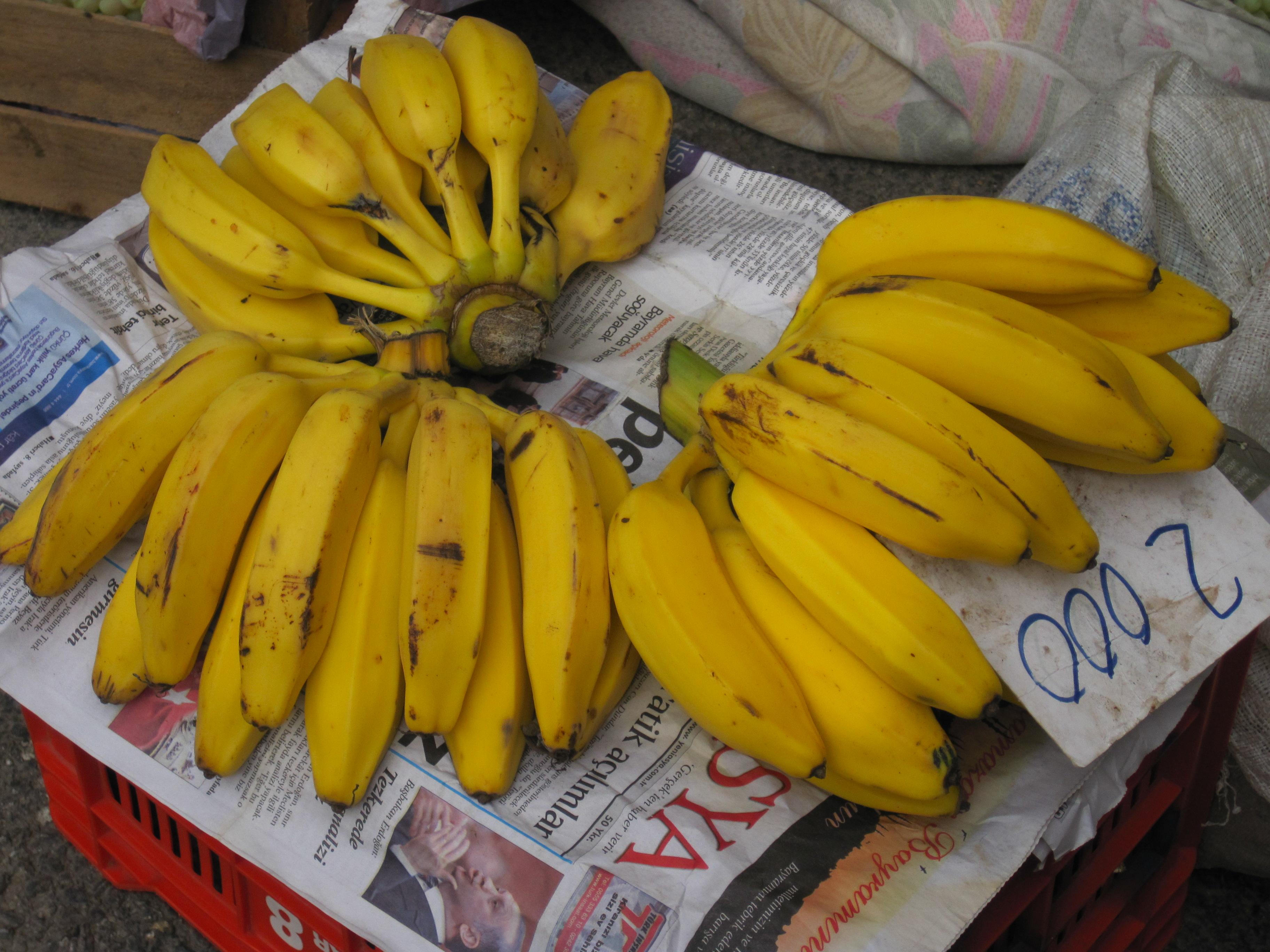 Gammaldags Alanyabananer på Söndagsmarknaden
