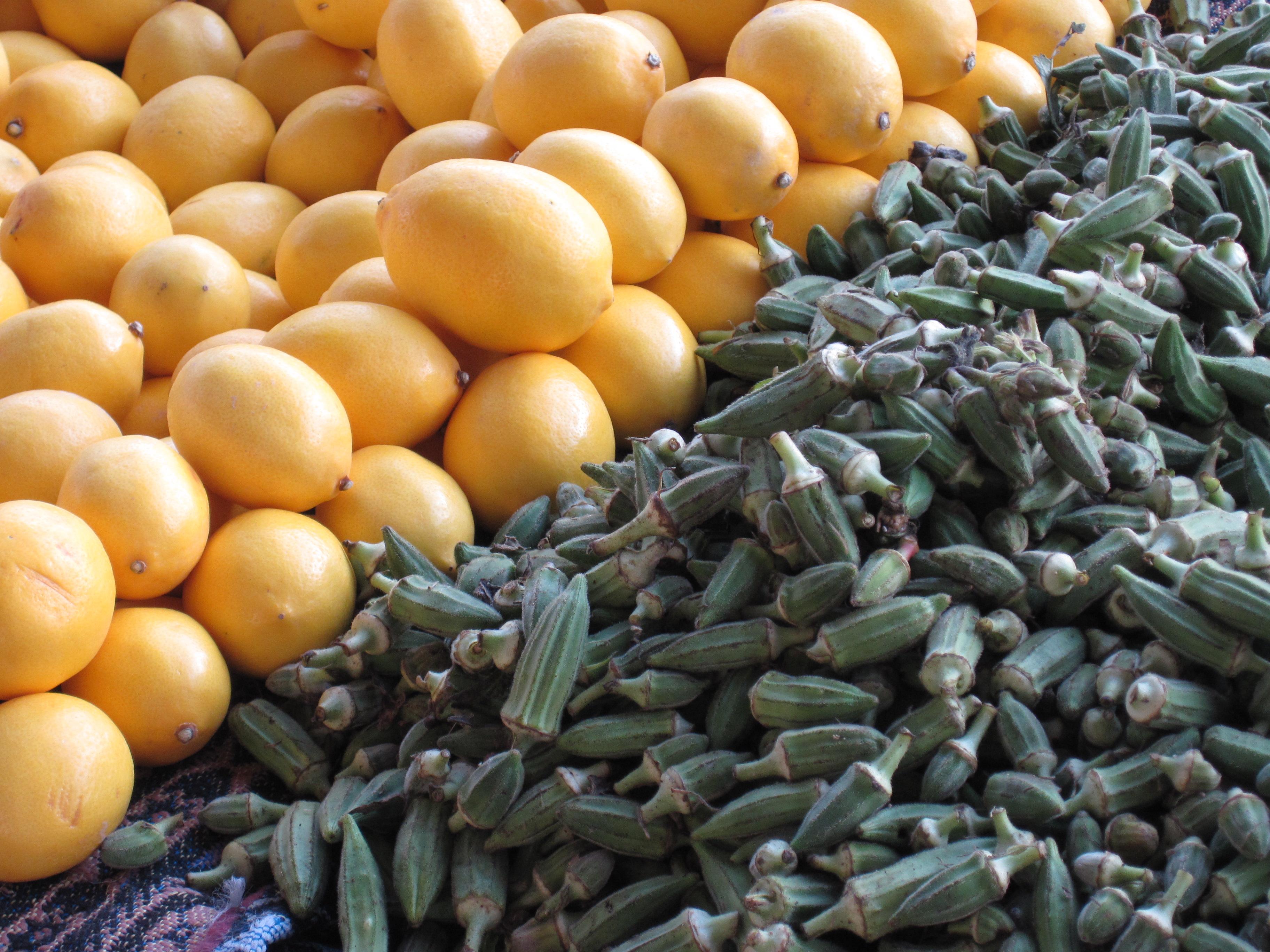 Citron och Okra