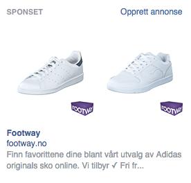 Footway kjører facebookannonse på et produkt jeg tidligere har vært inne på