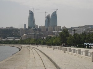 Baku, flame towers