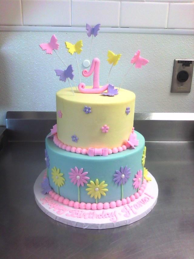 27 Inspired Image Of 1st Birthday Cake Girl Birijus Com