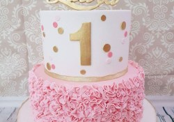 1St Birthday Cake Girl First Birthday Cake With Pink And Gold Theme Birthdays