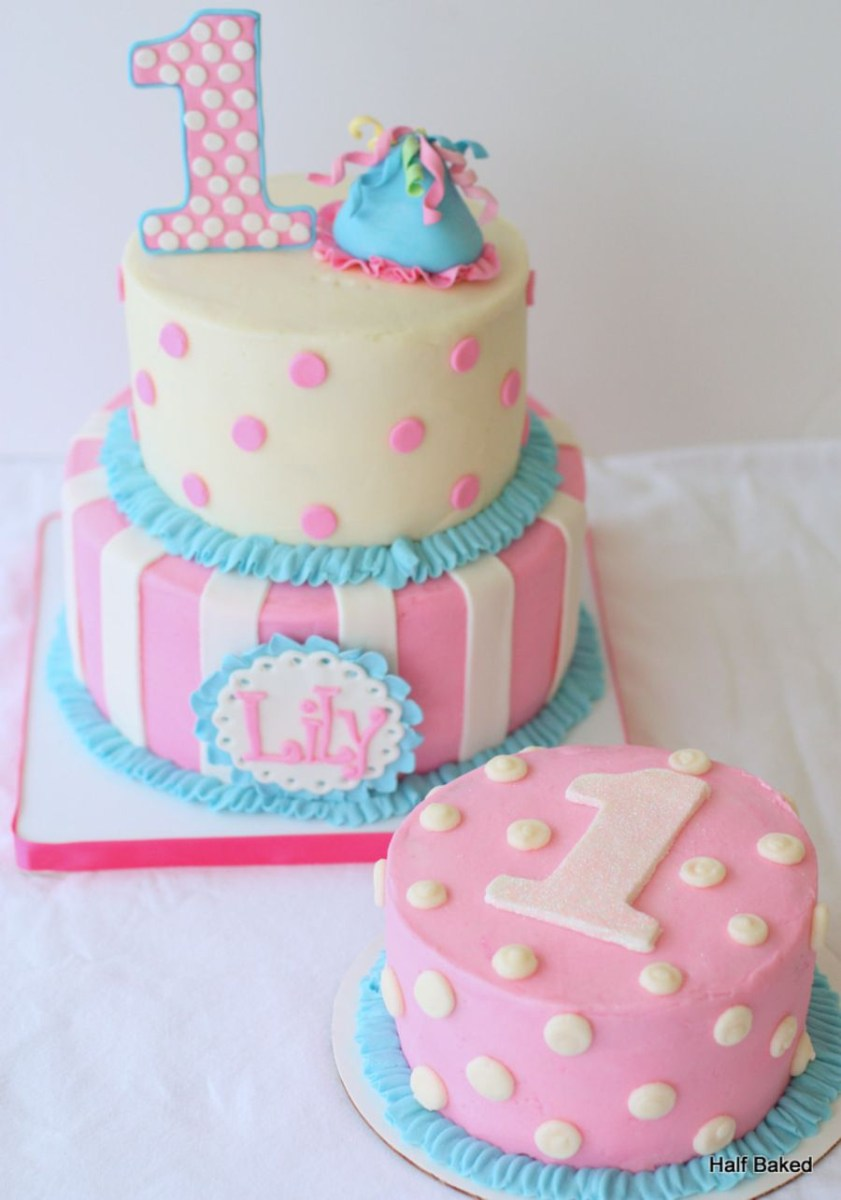 Fabulous 1St Birthday Girl Cakes First Birthday Cake Made To Match The Funny Birthday Cards Online Alyptdamsfinfo