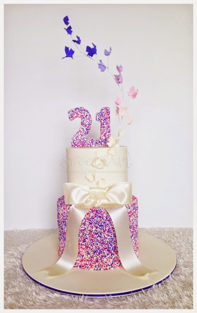 21 Birthday Cakes For Her Sweet Art Cakes Milbre Moments 2015