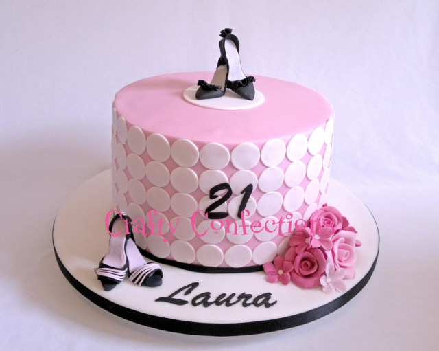 21St Birthday Cake Pink Girly Shoe Themed 21st Birthday Cake The Request He Flickr