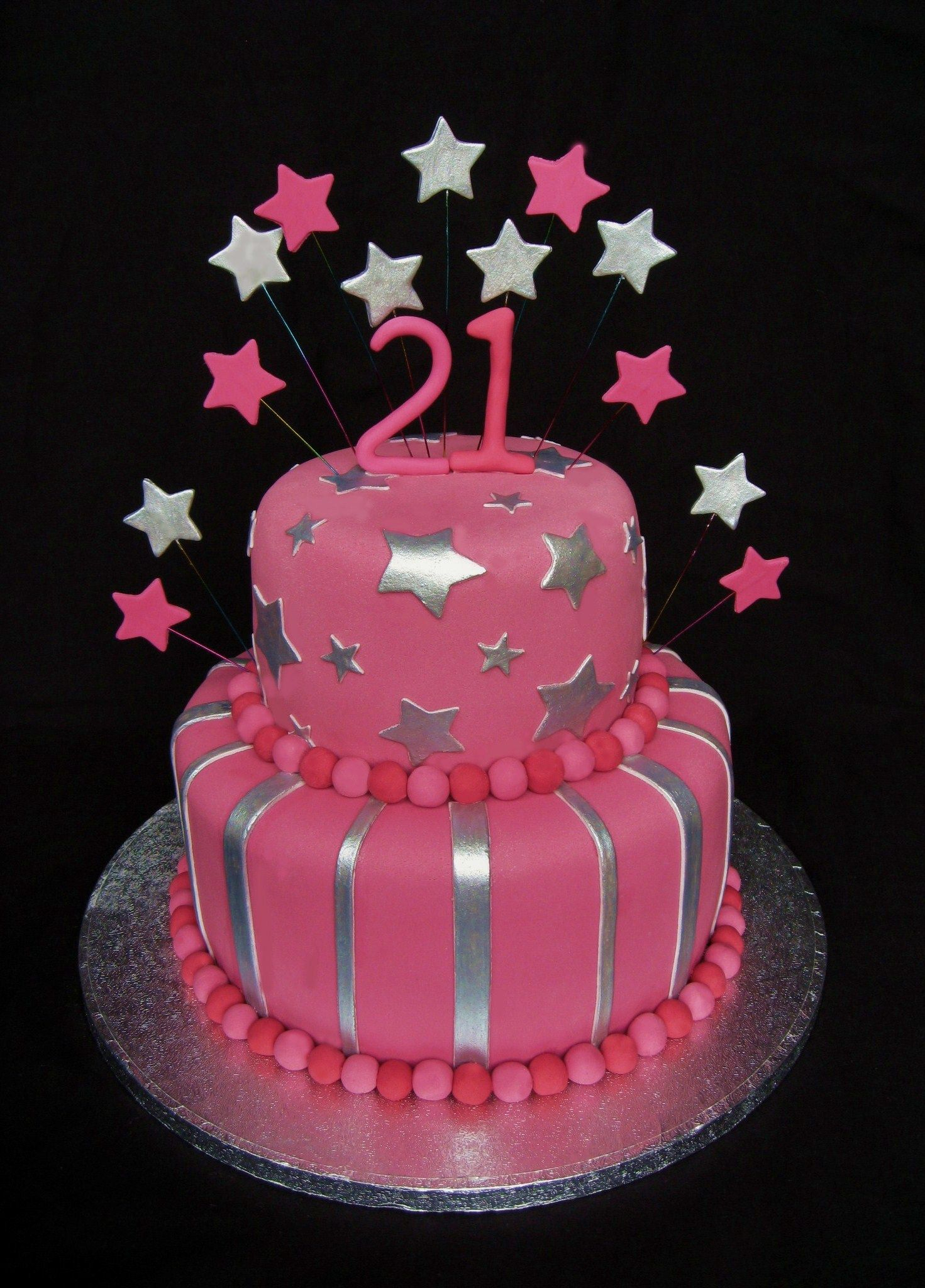 Magnificent 30 Elegant Picture Of 21St Birthday Cakes For Her Birijus Com Funny Birthday Cards Online Barepcheapnameinfo