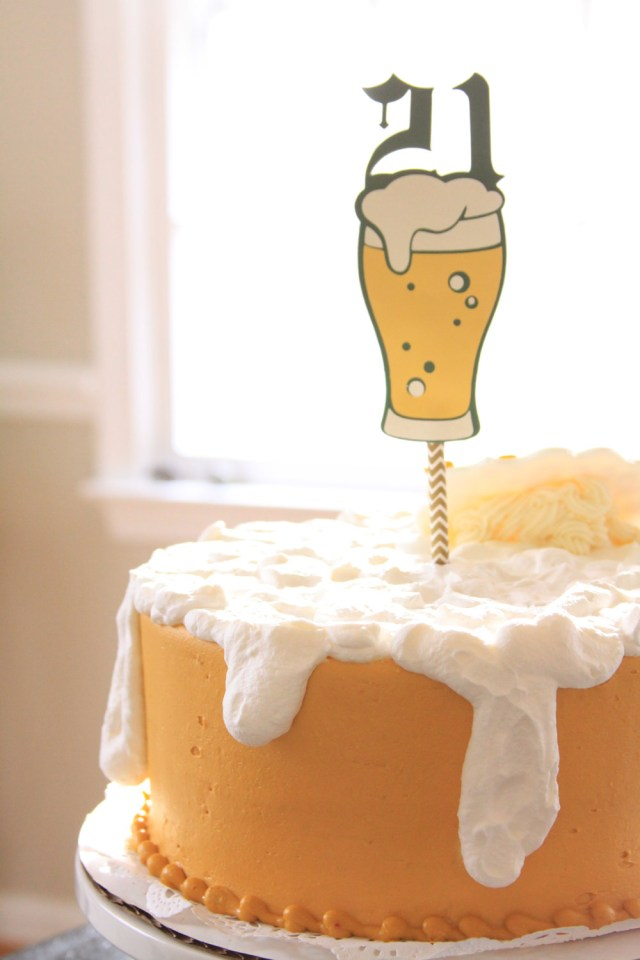 21St Birthday Cakes For Him 21st Birthday Cake Topper Beer Topper 21st For Him 21 Cake Topper