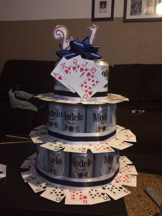 21St Birthday Cakes For Him Fun 21st Birthday Beer Cake Idea For A Guy Diy 21st Birthday