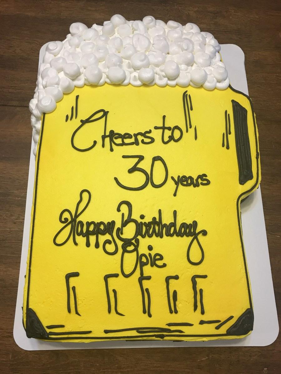 Phenomenal 30Th Birthday Cake For Him Beer Ms Lauras Cakes Birijus Com Funny Birthday Cards Online Sheoxdamsfinfo