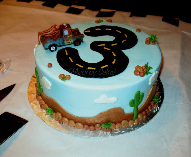 3Rd Birthday Cake Cars 3rd Birthday Cake With The Addition Of A Store Bought Flickr