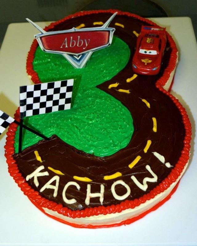 3Rd Birthday Cake Lightning Mcqueen Cars 3rd Birthday Cake Cakecentral