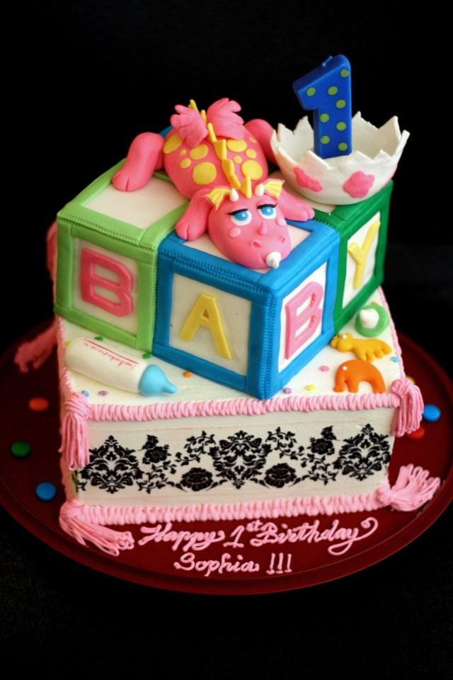 3Rd Birthday Cake Sophias 1st Birthday Cake And Emilys 3rd Birthday Cake Suzis Cakes