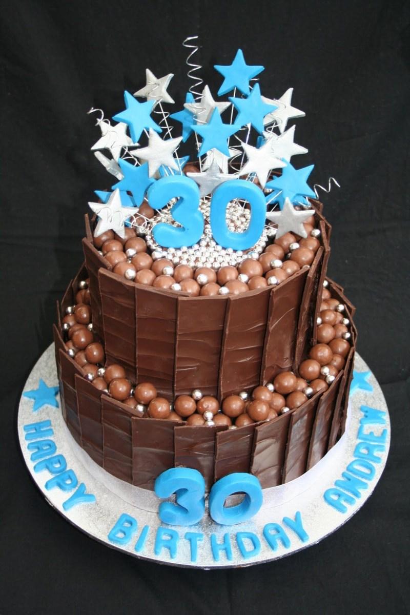 Enjoyable 40Th Birthday Cake Ideas For Him 30Th Birthday Cakes Leonies Cakes Personalised Birthday Cards Rectzonderlifede