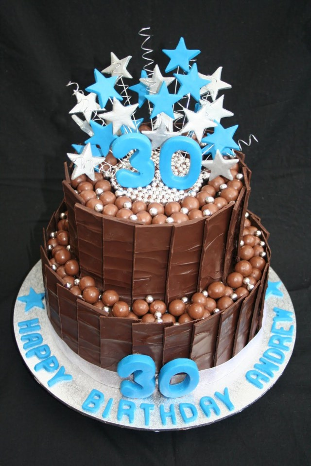40Th Birthday Cake Ideas For Him 30th Birthday Cakes Leonies Cakes And Parties 30th