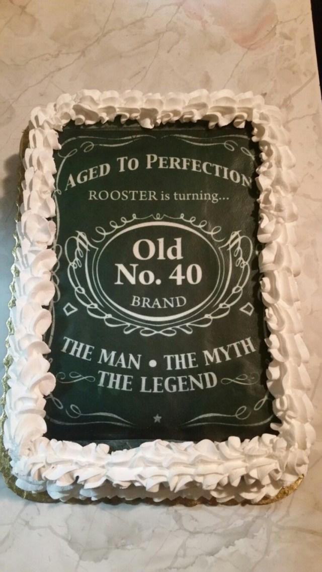 40Th Birthday Cake Ideas For Him 40th Birthday Cakedesigned After Jack Daniels For The Man The