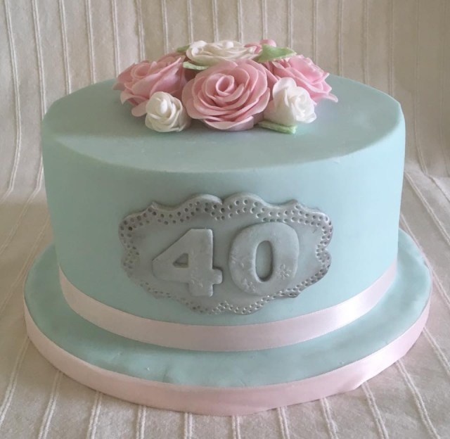 40Th Birthday Cakes 40th Birthday Cake For Catherine Village Green Bakes