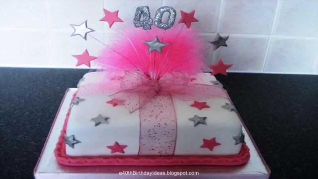 40Th Birthday Cakes 40th Birthday Cakes Birthday Cakes For 40th Birthday Celebration