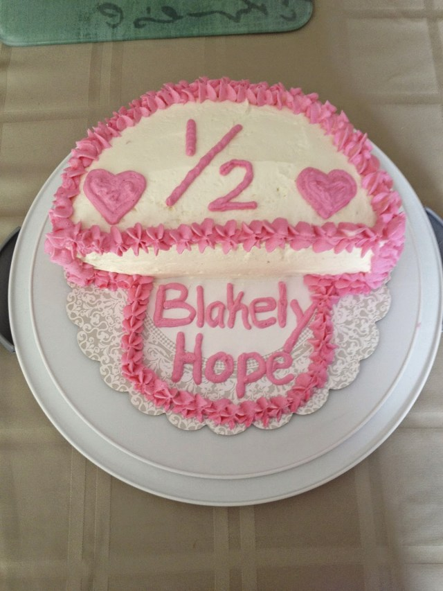6 Month Birthday Cake Life Is Better In Pink Blakelys Half Birthday