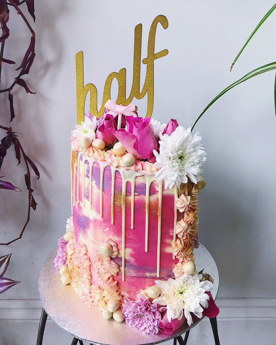 6 Month Birthday Cake Shadi On Twitter So Fun Making This Half Cake For A 6 Month Year