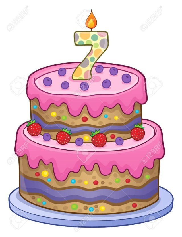 7 Year Old Birthday Cake Birthday Cake Image For 7 Years Old Royalty Free Cliparts Vectors