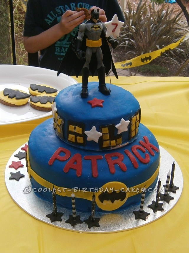 7 Year Old Birthday Cake Coolest Batman For Boy Cakes