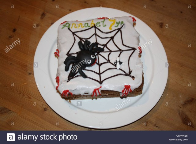 7 Year Old Birthday Cake Halloween Birthday Cake For A 7 Year Old Girl Stock Photo 47279517