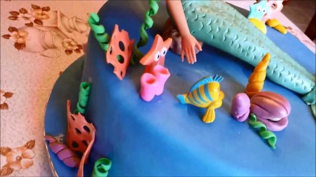 7 Year Old Birthday Cake The Little Mermaid Girls Birthday Cake Youtube