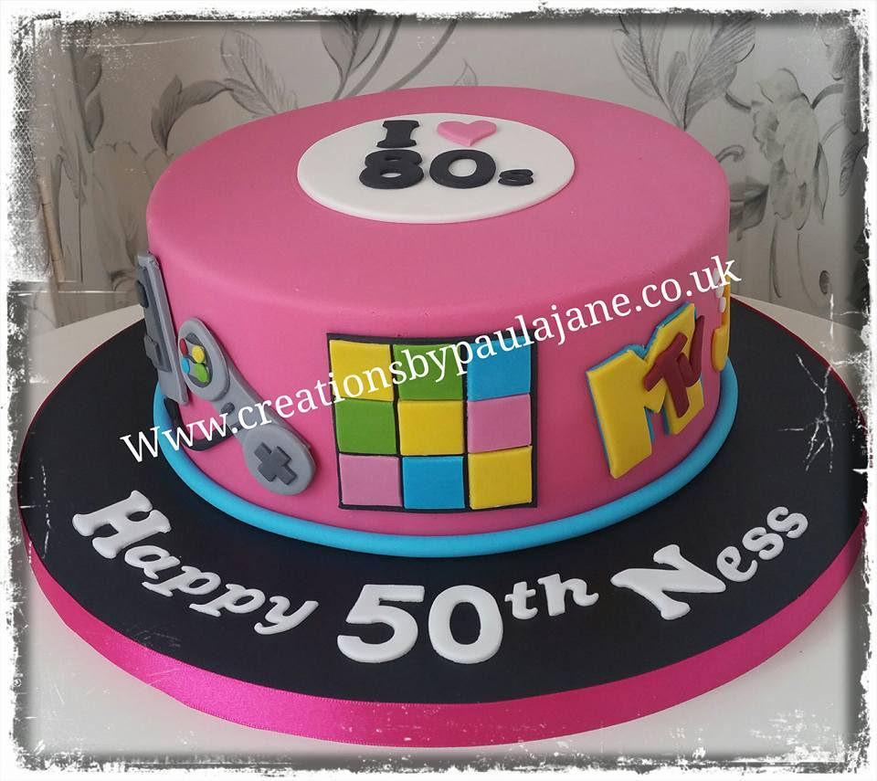 Pleasing 80S Birthday Cake 80S Themed Birthday Cake Paula Town Flickr Funny Birthday Cards Online Elaedamsfinfo