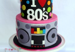 80S Birthday Cake Salute To The 80s 16th Birthday Cake 80s Party Pinterest