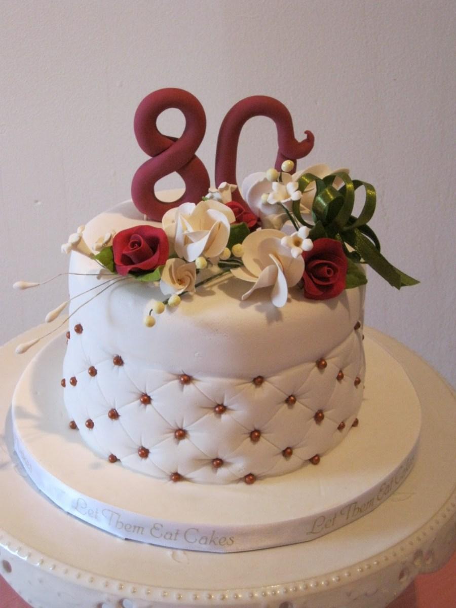 Swell 80Th Birthday Cakes Let Them Eat Cakes 80Th Birthday Birijus Com Birthday Cards Printable Inklcafe Filternl